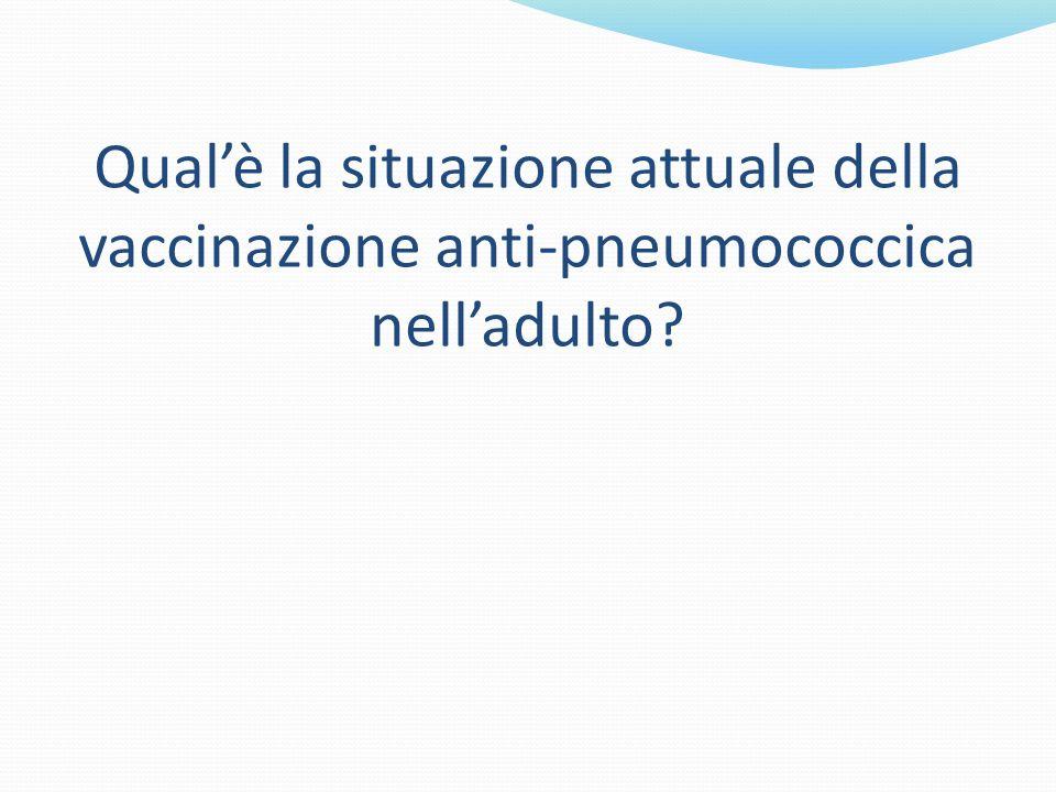 Qual'è la situazione attuale della vaccinazione anti-pneumococcica nell'adulto