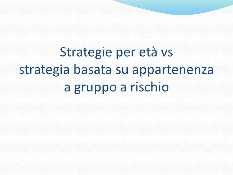 Strategie per età vs strategia basata su appartenenza a gruppo a rischio