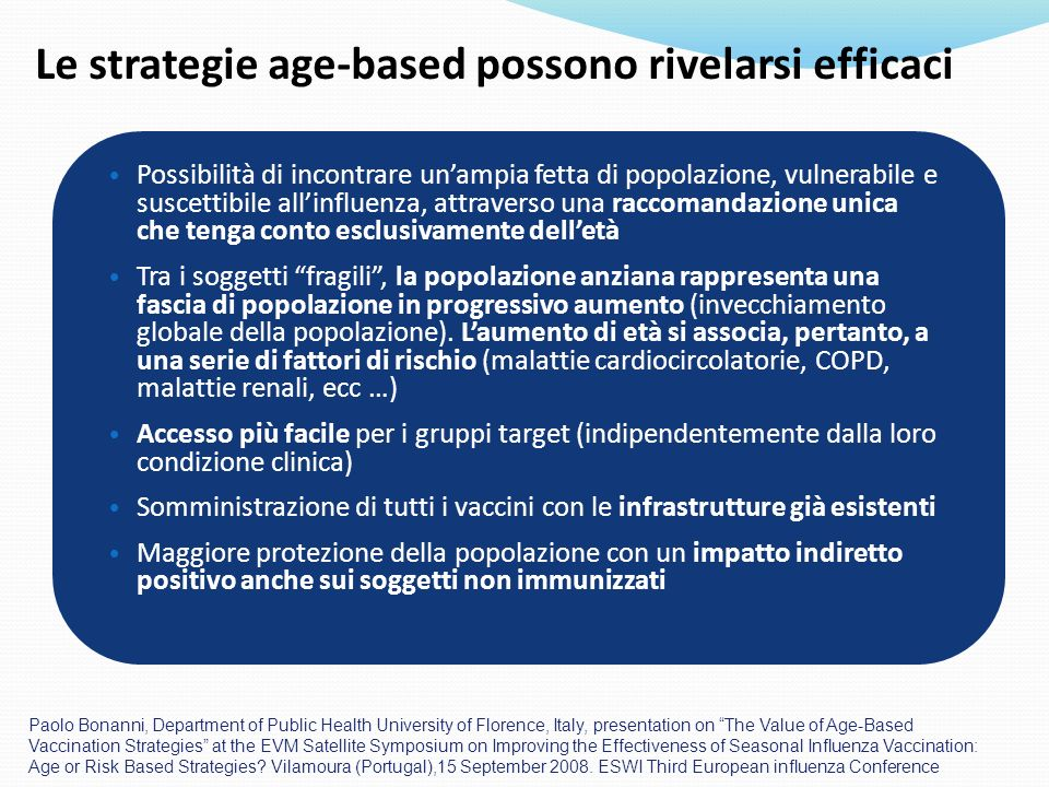 Le strategie age-based possono rivelarsi efficaci