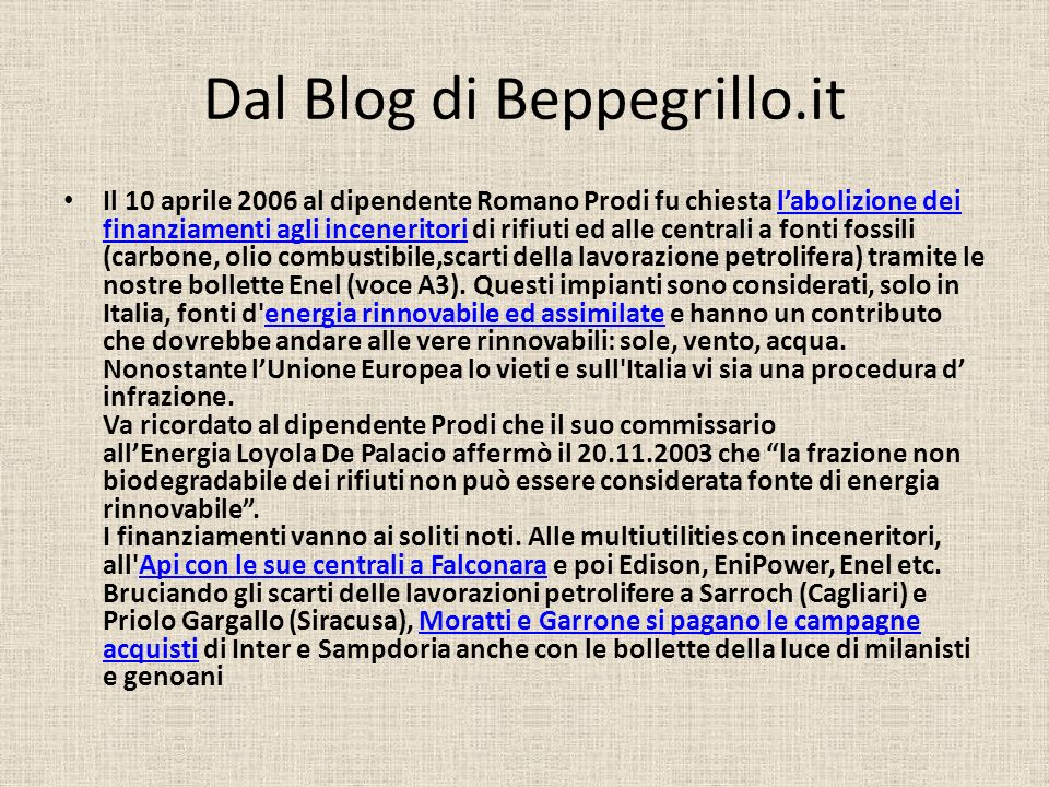Dal Blog di Beppegrillo.it