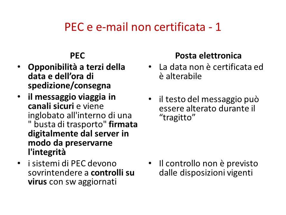 PEC e e-mail non certificata - 1