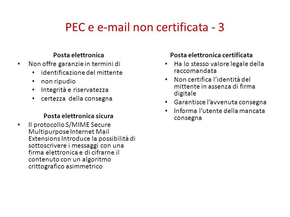 PEC e e-mail non certificata - 3