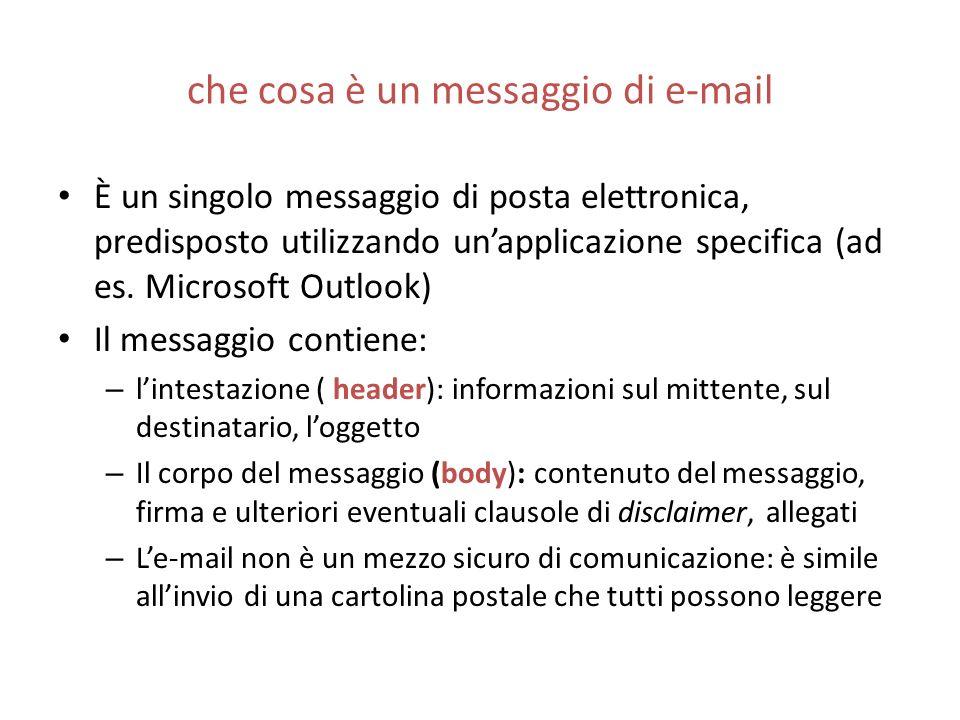 che cosa è un messaggio di e-mail
