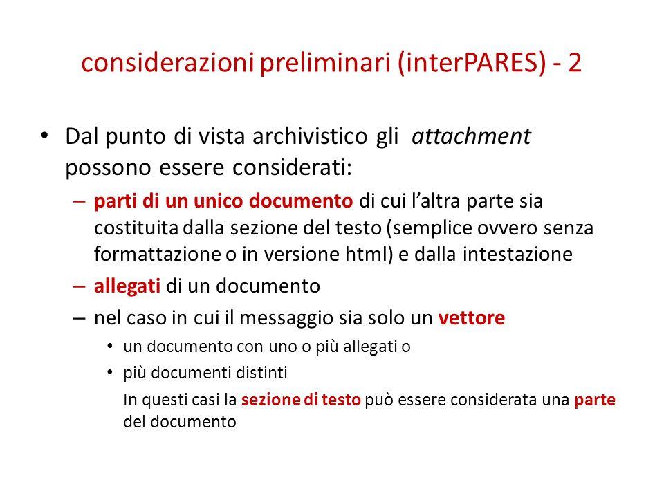 considerazioni preliminari (interPARES) - 2