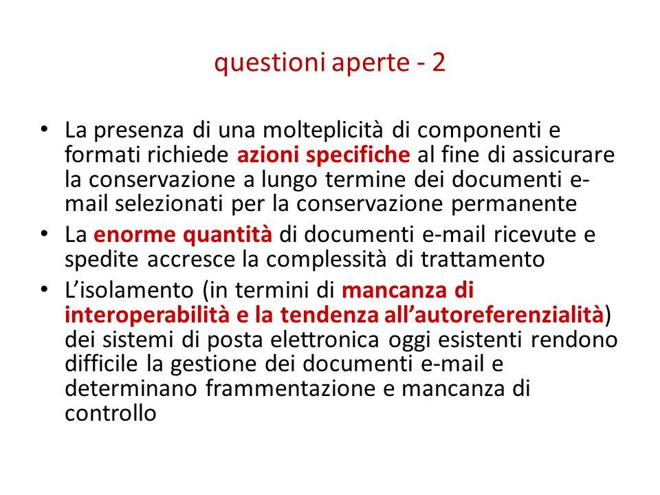 questioni aperte - 2