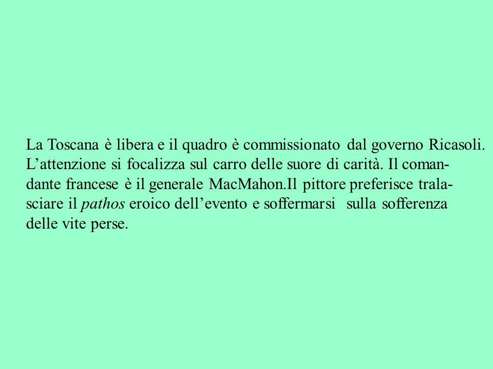 La Toscana è libera e il quadro è commissionato dal governo Ricasoli.