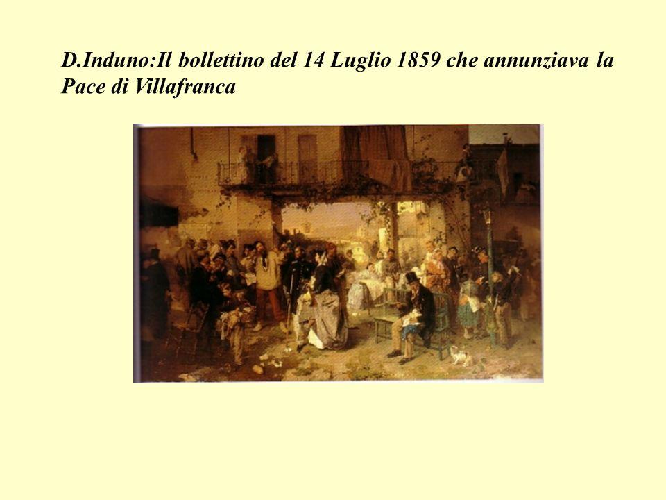 D.Induno:Il bollettino del 14 Luglio 1859 che annunziava la