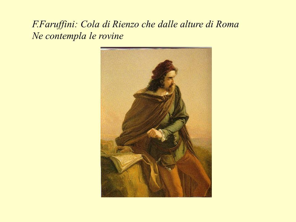 F.Faruffini: Cola di Rienzo che dalle alture di Roma