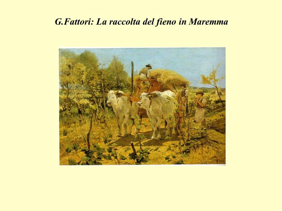 G.Fattori: La raccolta del fieno in Maremma