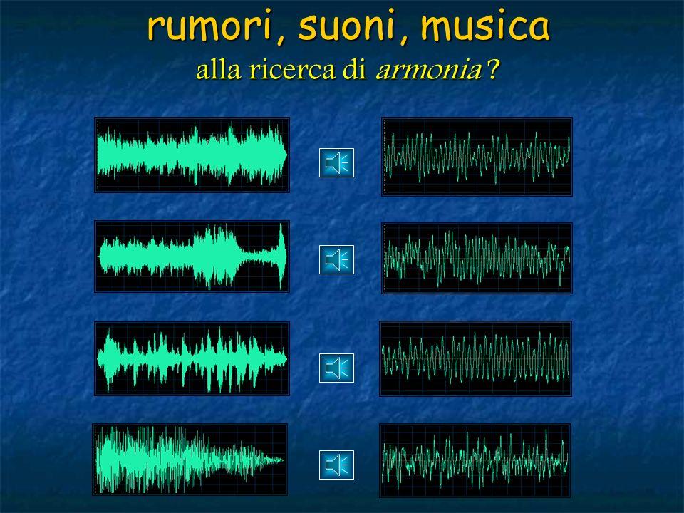 rumori, suoni, musica alla ricerca di armonia