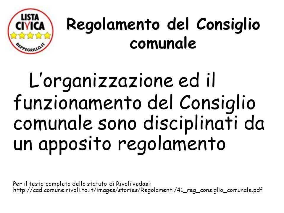 Regolamento del Consiglio comunale