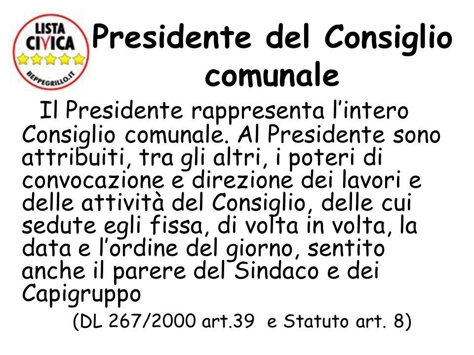 Presidente del Consiglio comunale