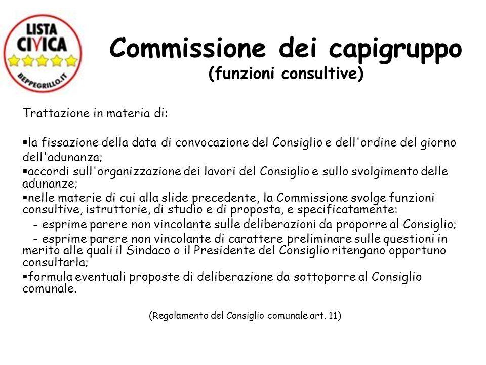 Commissione dei capigruppo (funzioni consultive)