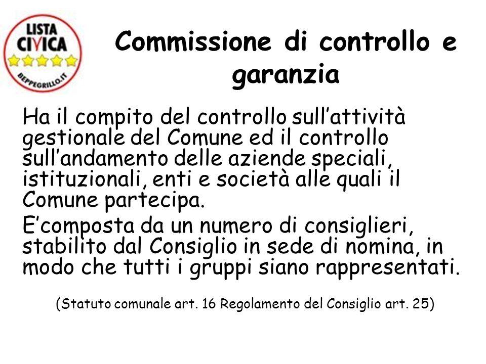 Commissione di controllo e garanzia