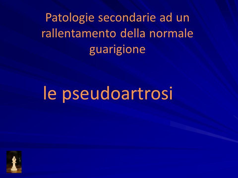 Patologie secondarie ad un rallentamento della normale guarigione