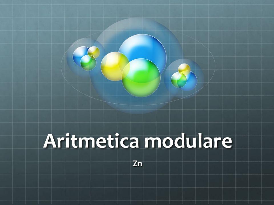 Aritmetica modulare Zn