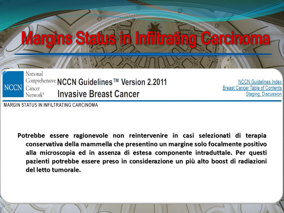Margins Status in Infiltrating Carcinoma