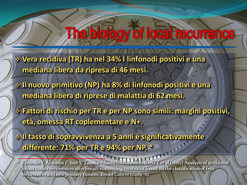 The biology of local recurrence