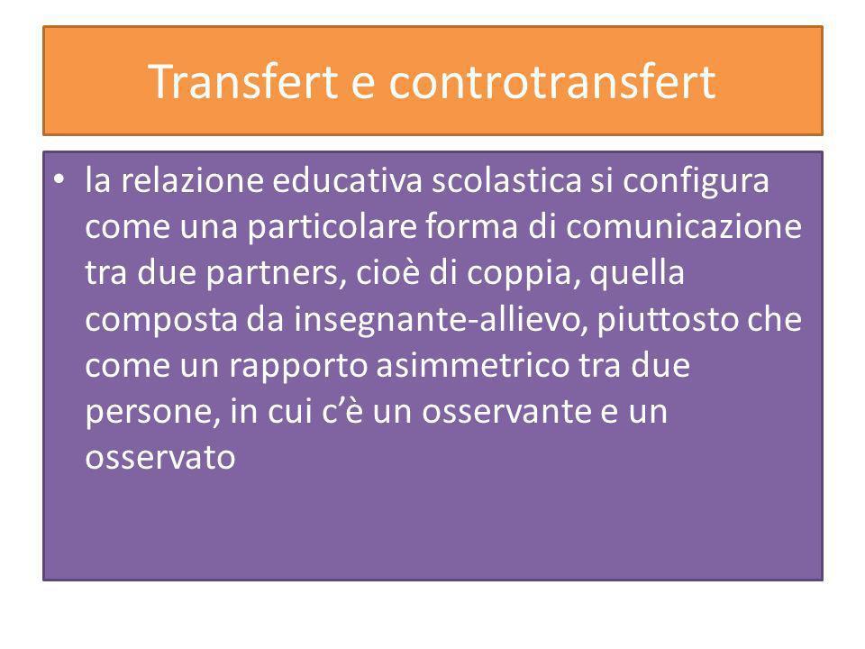 Transfert e controtransfert