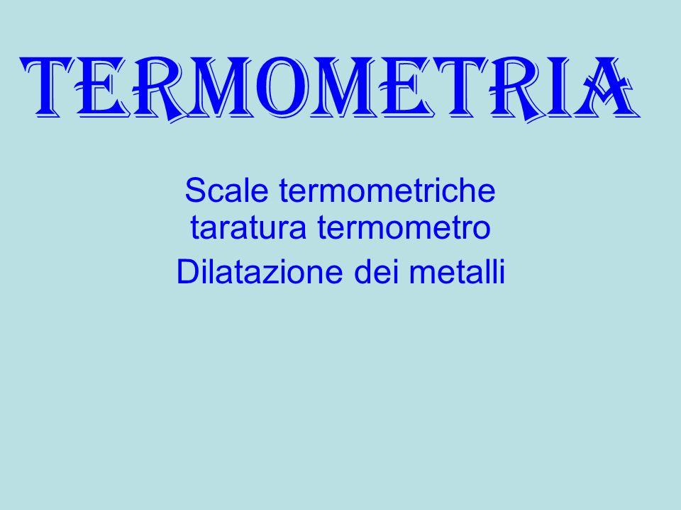 Scale termometriche taratura termometro Dilatazione dei metalli