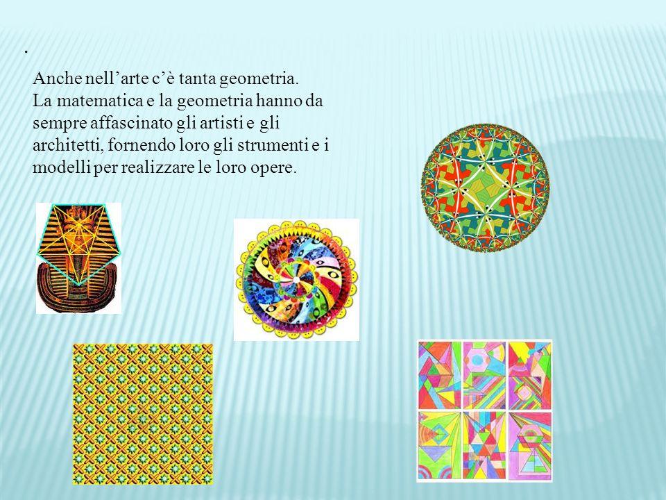 . Anche nell'arte c'è tanta geometria.