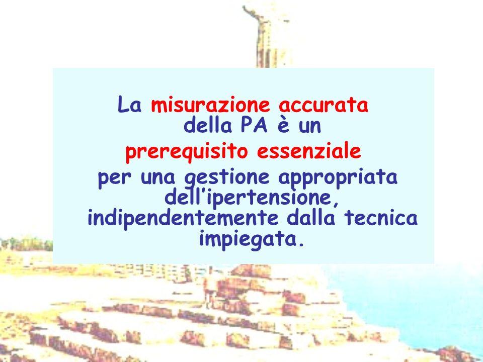 La misurazione accurata della PA è un prerequisito essenziale