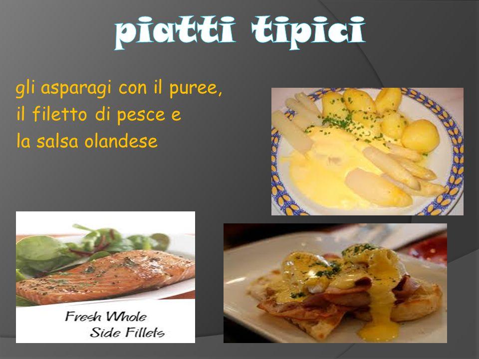 piatti tipici il filetto di pesce e la salsa olandese