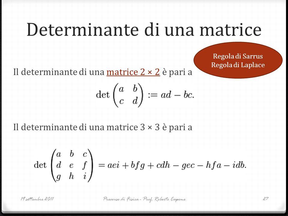 Determinante di una matrice