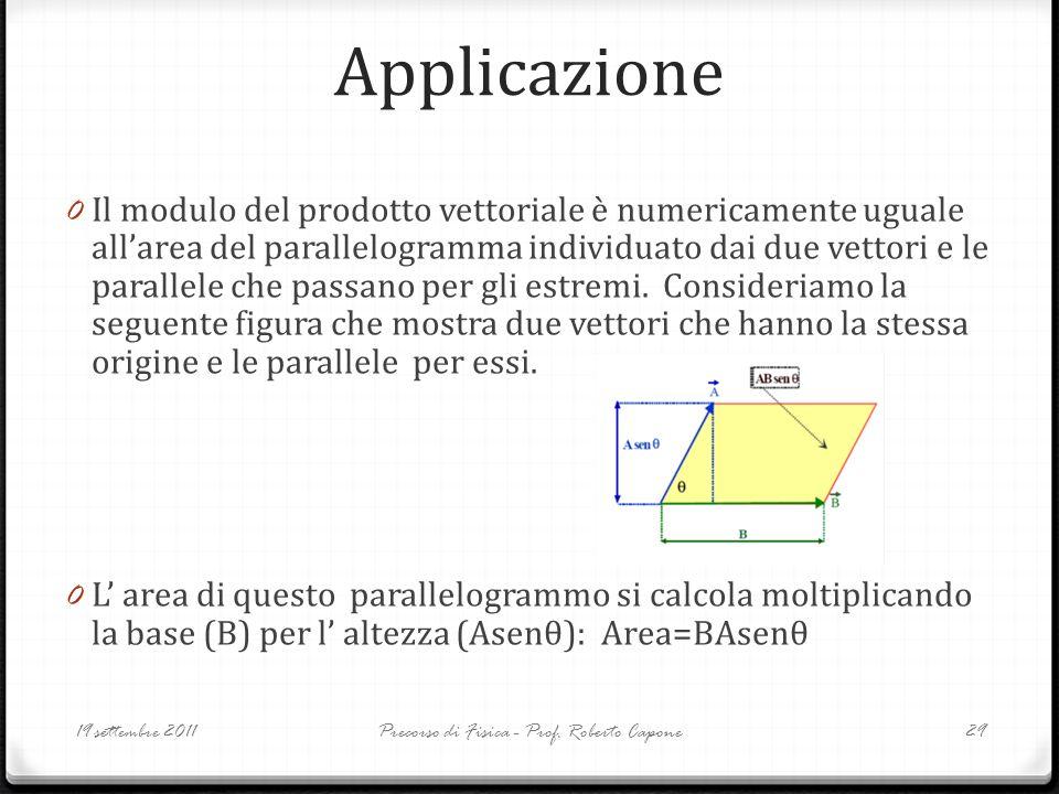 Precorso di Fisica - Prof. Roberto Capone