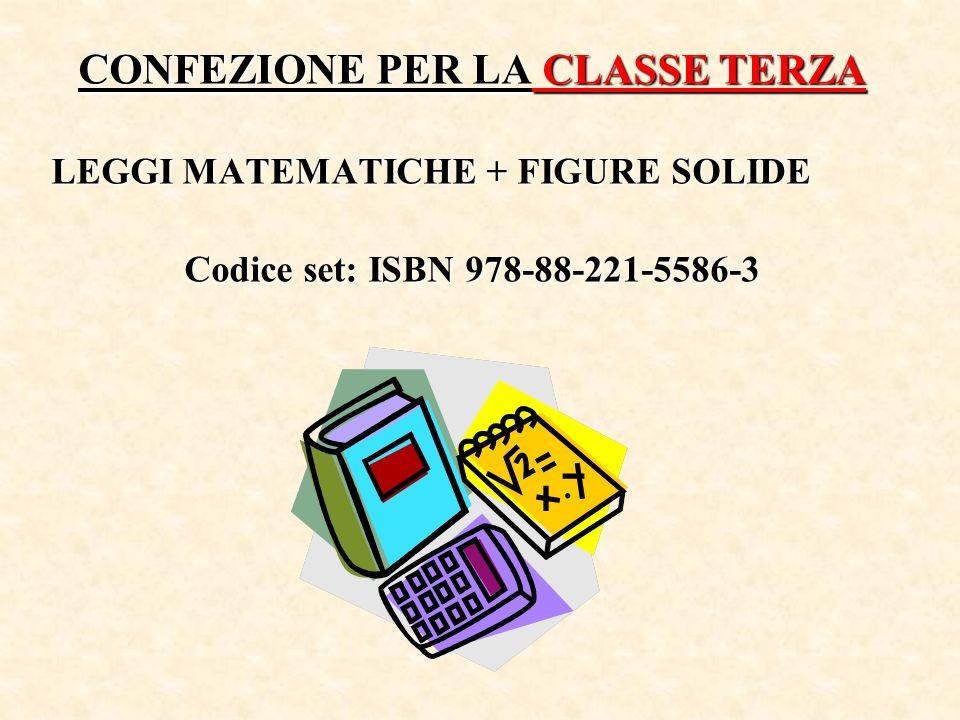 CONFEZIONE PER LA CLASSE TERZA