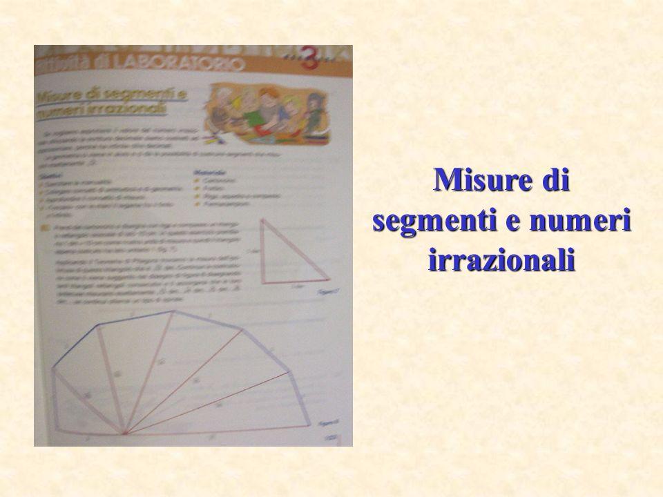 Misure di segmenti e numeri irrazionali