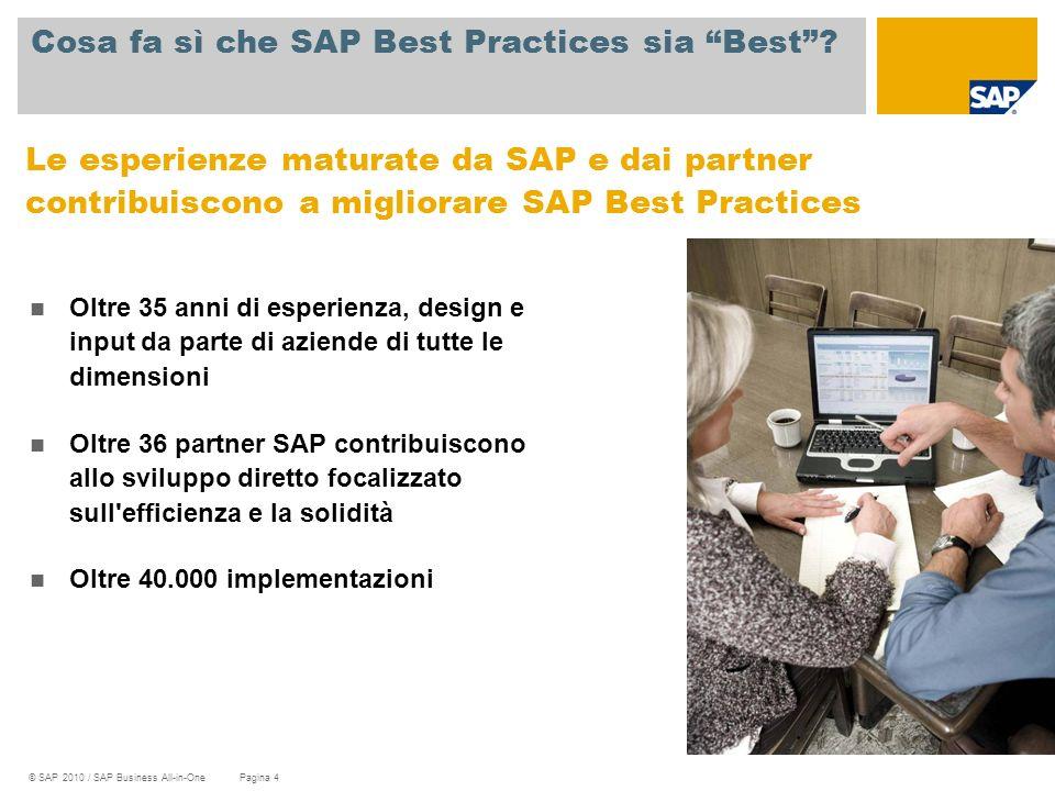 Cosa fa sì che SAP Best Practices sia Best