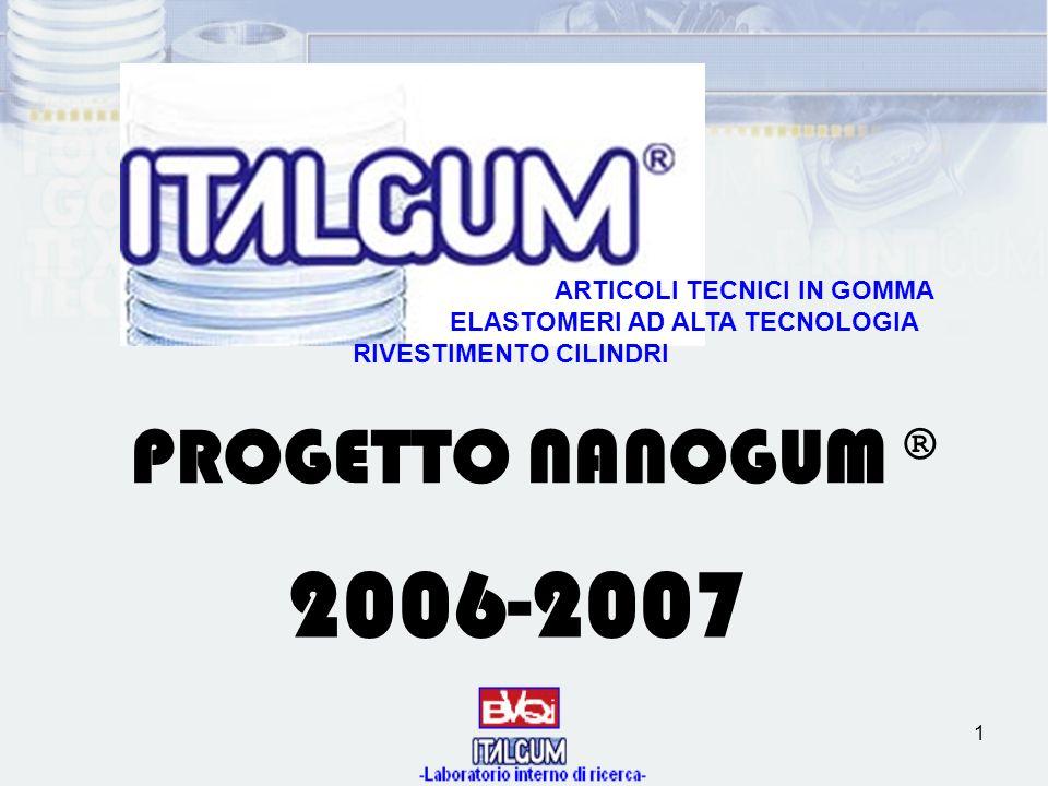 2006-2007 PROGETTO NANOGUM ® ARTICOLI TECNICI IN GOMMA