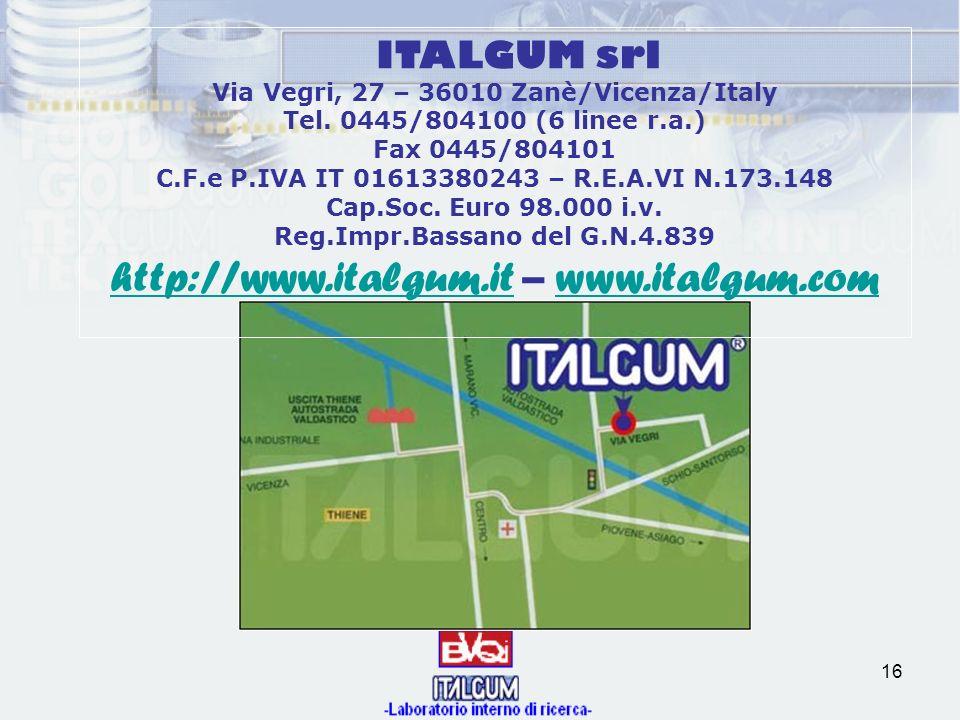 http://www.italgum.it – www.italgum.com