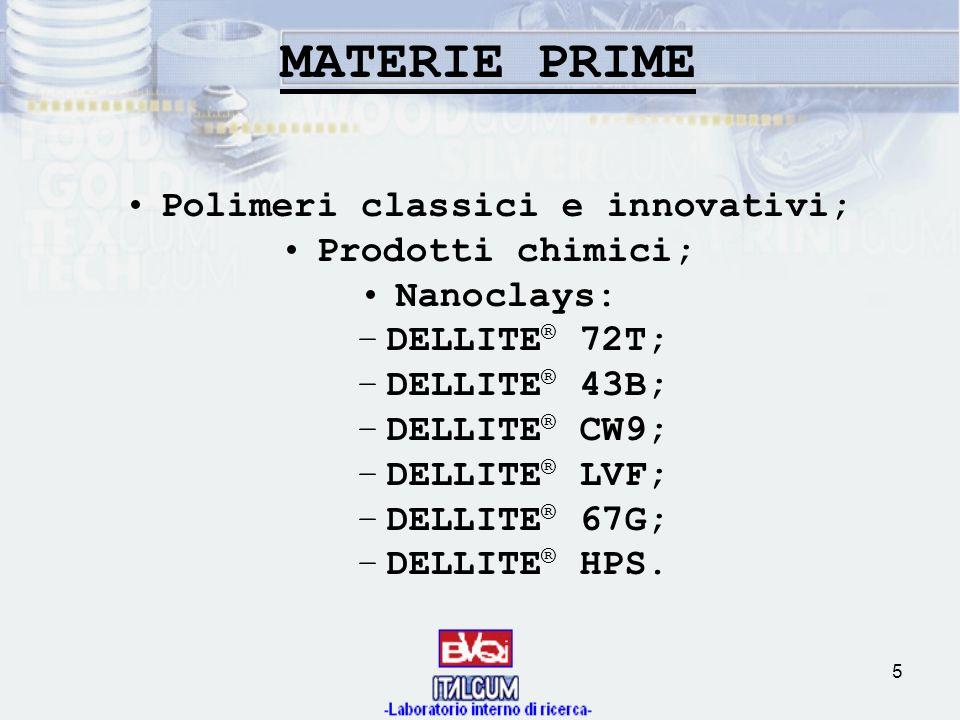 Polimeri classici e innovativi;