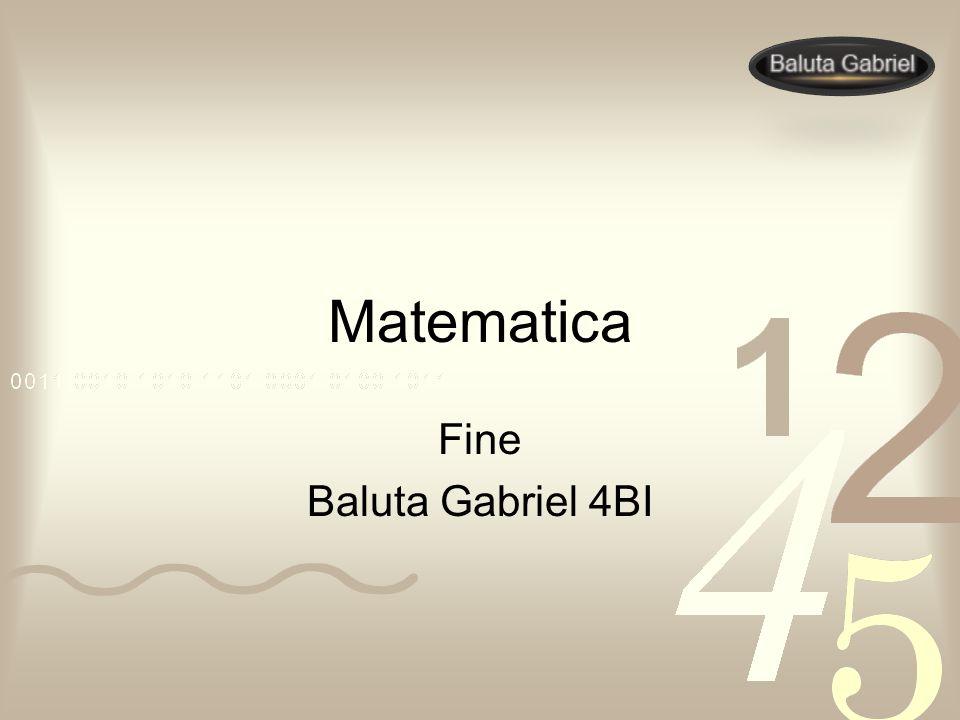 Matematica Fine Baluta Gabriel 4BI FINE