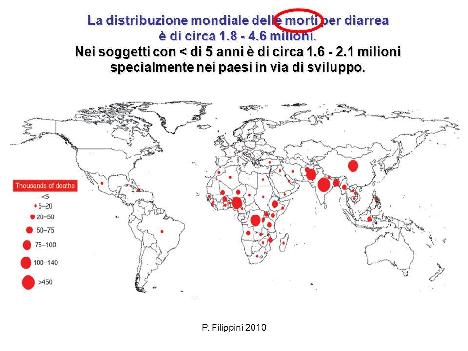 La distribuzione mondiale delle morti per diarrea