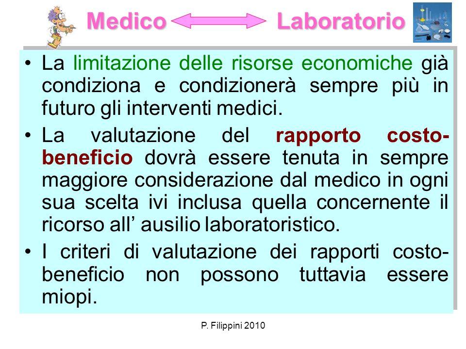 Medico Laboratorio La limitazione delle risorse economiche già condiziona e condizionerà sempre più in futuro gli interventi medici.