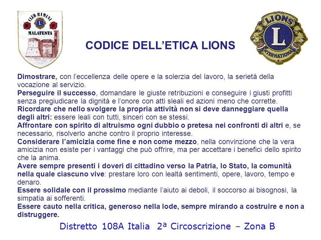 CODICE DELL'ETICA LIONS