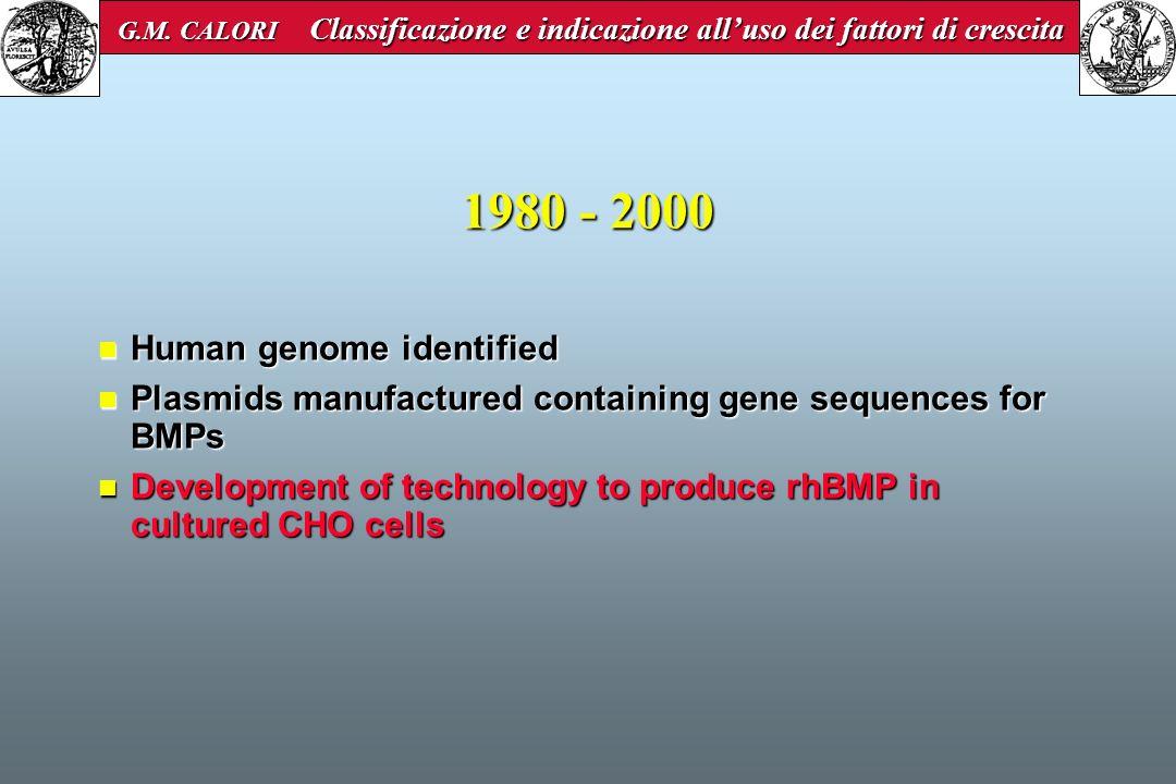 1980 - 2000 Human genome identified