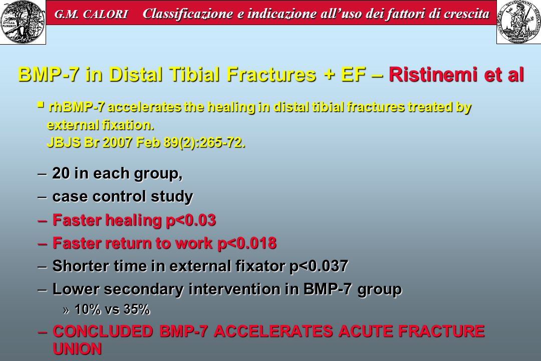 BMP-7 in Distal Tibial Fractures + EF – Ristinemi et al