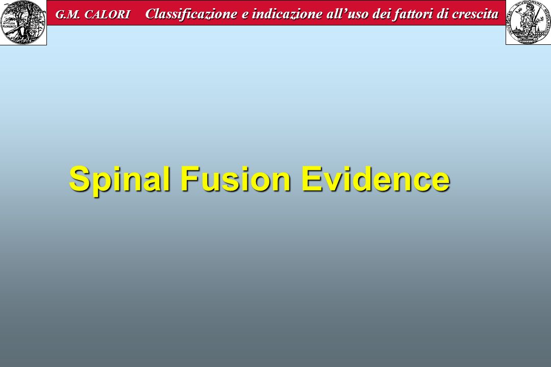 Spinal Fusion Evidence