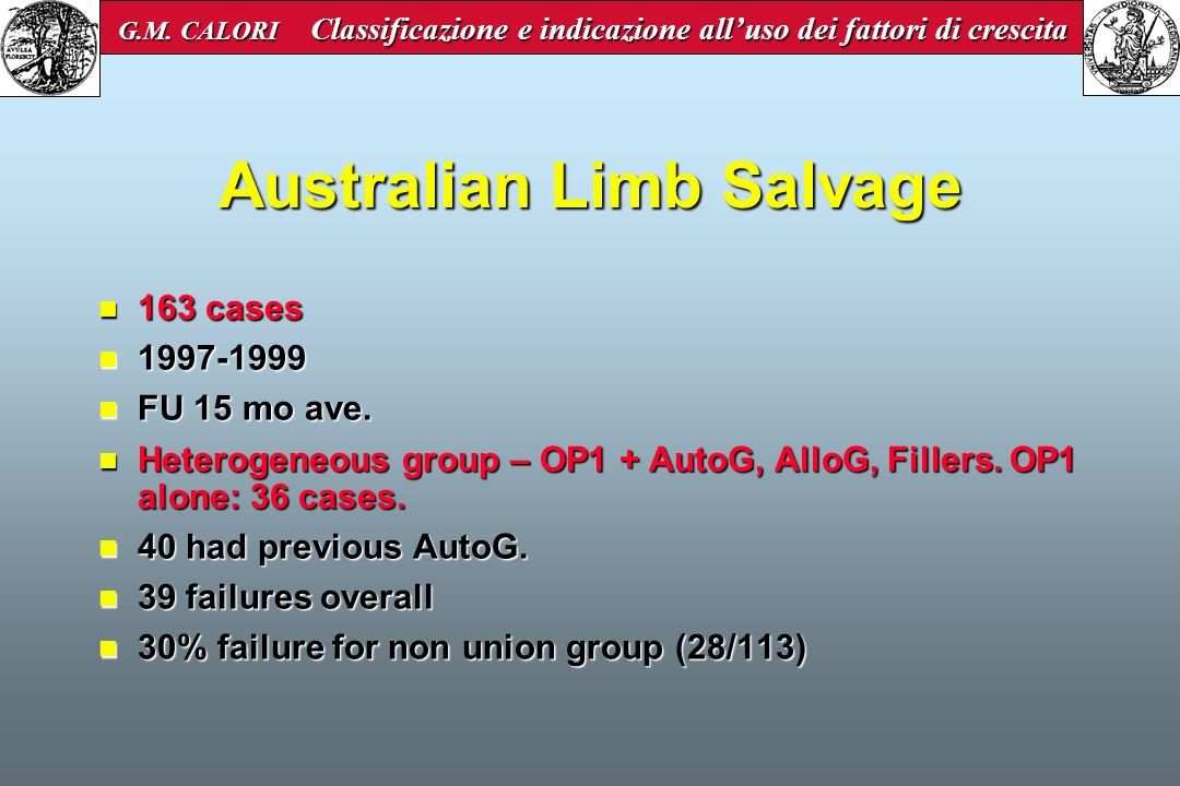 Australian Limb Salvage