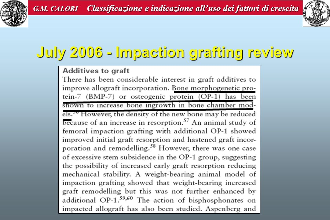 July 2006 - Impaction grafting review