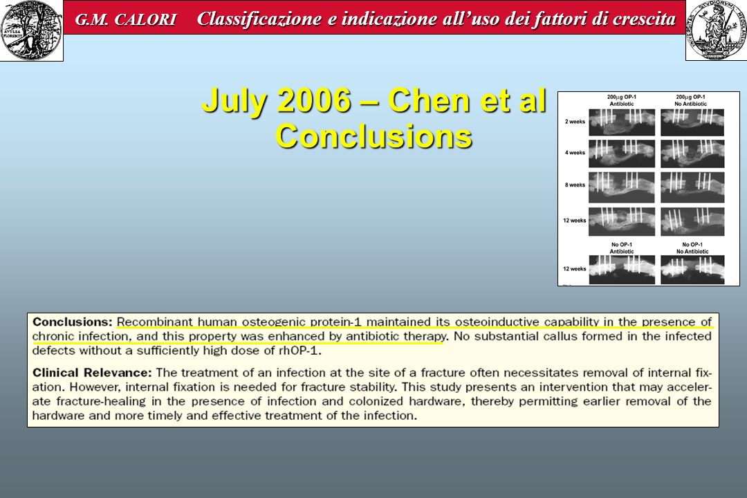 July 2006 – Chen et al Conclusions