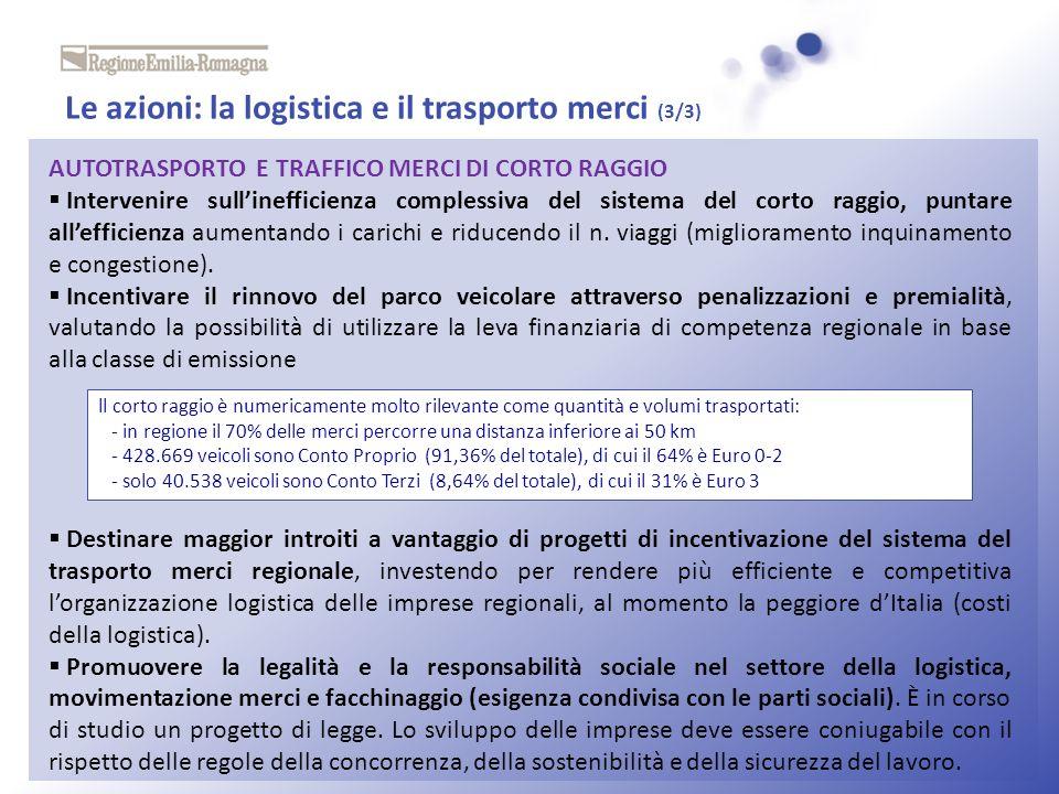 Le azioni: la logistica e il trasporto merci (3/3)