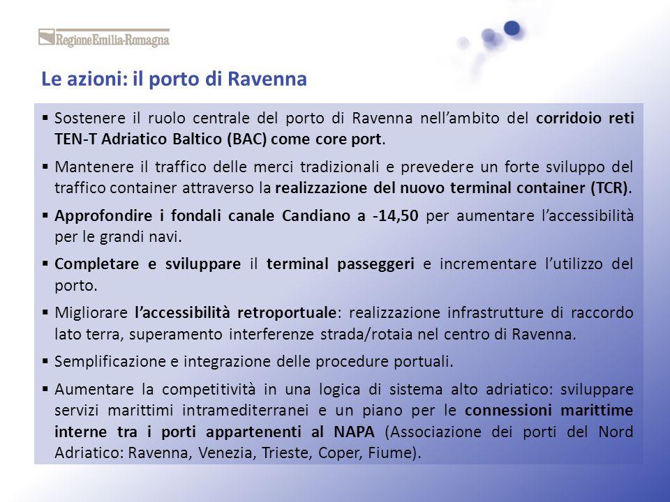 Le azioni: il porto di Ravenna