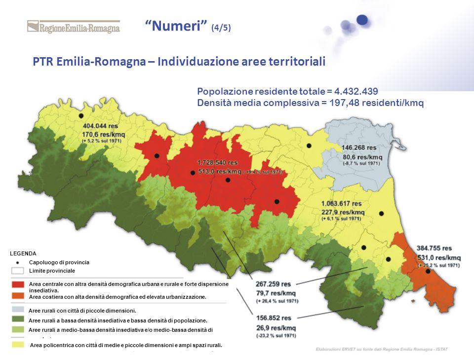Numeri (4/5) PTR Emilia-Romagna – Individuazione aree territoriali