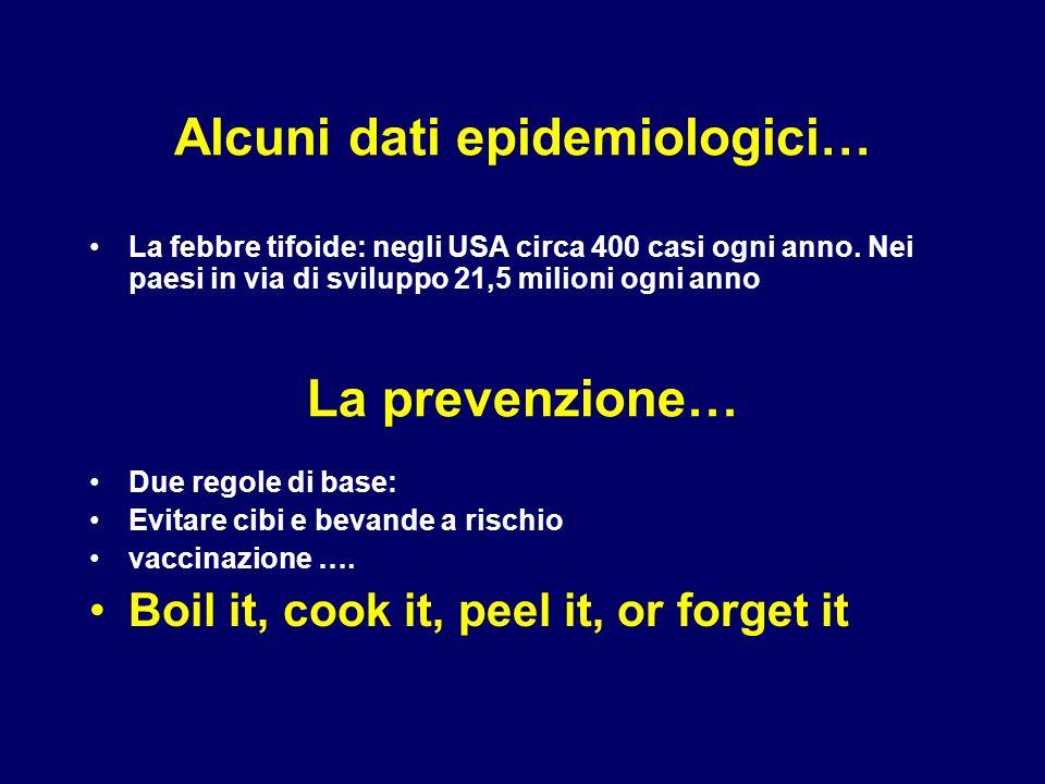 Alcuni dati epidemiologici…