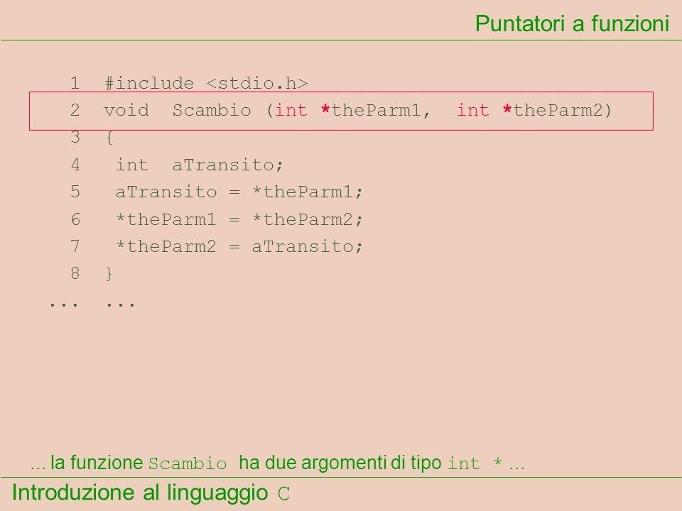 Puntatori a funzioni 1 #include <stdio.h>